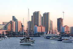 Matin. San Diego, CA.Skyline. Photo stock