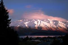 Matin Sun sur les montagnes Images libres de droits