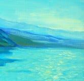 Matin sur la mer, peinture, photo illustration stock