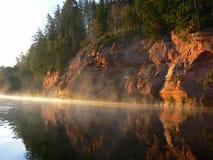 Matin sur la rivière Images libres de droits