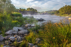 Matin sur la rivière Image libre de droits