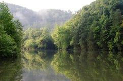Matin sur la rivière d'Ocoee Photographie stock libre de droits