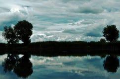 Matin sur le lac Photographie stock libre de droits