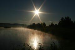 Matin sur le lac Photo libre de droits