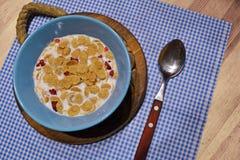 Matin un petit déjeuner sain Images libres de droits