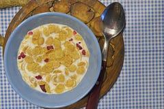 Matin un petit déjeuner sain Photo libre de droits