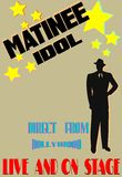 Matinee idol background. Background of retro style with copy space Royalty Free Stock Images