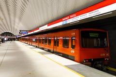 Newly opened subway in Matinkyla, Finland Royalty Free Stock Photography