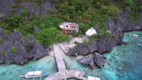 Matinloc-Schrein in EL Nido, Palawan, Philippinen stock video footage