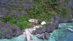 Matinloc-Schrein in EL Nido, Palawan, Philippinen stock video footage