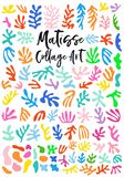 Matisse style collage art, vector graphic design elements royalty free illustration