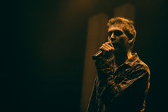 Matisyahu singing in Moscow Stock Photo