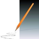 Matita arancione Fotografie Stock Libere da Diritti