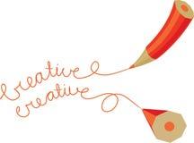 Matita creativa due Immagine Stock