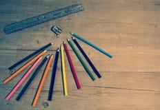 Matita di colore per la scuola fotografia stock libera da diritti