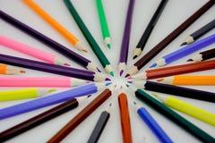 Matita di colore per la scuola o altra fotografia stock libera da diritti