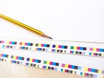 Matita di derivazione di processo del lavoro di industria del torchio tipografico di Digital e C Fotografie Stock Libere da Diritti