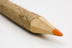 Matita di legno arancione Fotografia Stock Libera da Diritti