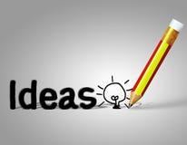 Matita ed idea Immagine Stock