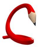 Matita flessibile rossa Fotografie Stock Libere da Diritti