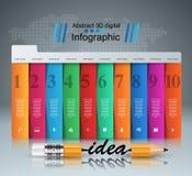 Matita, idea - istruzione di affari infographic illustrazione vettoriale