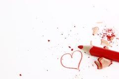 Matita rossa Immagine Stock Libera da Diritti