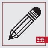 Matita semplice dell'icona Immagine Stock