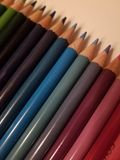 Matite brillantemente colorate Fotografia Stock