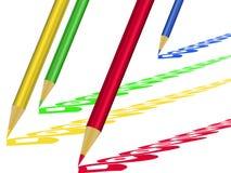 Matite colorate Immagini Stock Libere da Diritti