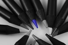 Matite colorate blu di Sharped Fotografia Stock Libera da Diritti