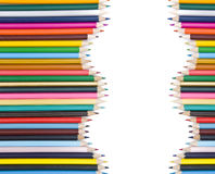 Matite colorate con ombra Fotografie Stock Libere da Diritti