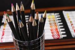 Matite colorate degli artisti Fotografie Stock