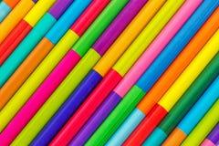 Matite colorate, fondo Fotografie Stock Libere da Diritti