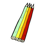 matite colorate fumetto comico Immagine Stock