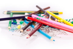 Matite colorate, graffette Immagine Stock Libera da Diritti