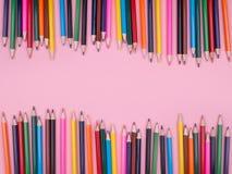 Matite colorate impostate Immagine Stock Libera da Diritti