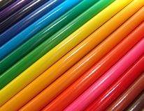 Matite colorate macro Fotografia Stock Libera da Diritti