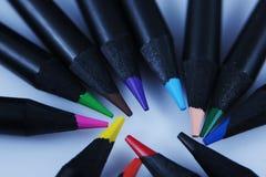 Matite colorate, macro Immagine Stock