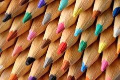 Matite colorate a macroistruzione Immagini Stock Libere da Diritti