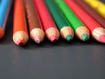 Matite colorate, morti sopra! Fotografia Stock Libera da Diritti