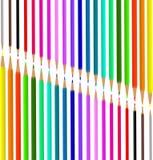 Matite colorate per la scuola Figura per la progettazione di una scatola di matite royalty illustrazione gratis