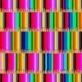 Matite colorate per la scuola Figura per la progettazione di una scatola di matite illustrazione di stock