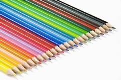 Matite colorate su fondo bianco immagine stock libera da diritti