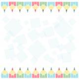 Matite colorate sui bordi dell'immagine royalty illustrazione gratis