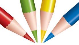 Matite colorate vettore illustrazione di stock