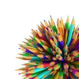 Matite - 3D - colori Immagine Stock Libera da Diritti
