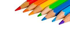 Matite dei colori del Rainbow Fotografia Stock Libera da Diritti