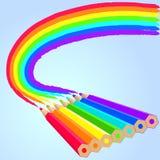 Matite del Rainbow Immagine Stock Libera da Diritti
