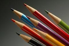 Matite di arte di colore per l'illustrazione Fotografia Stock Libera da Diritti