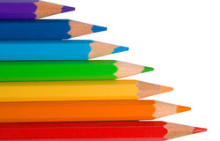 Matite di colore dei colori del Rainbow Fotografie Stock Libere da Diritti